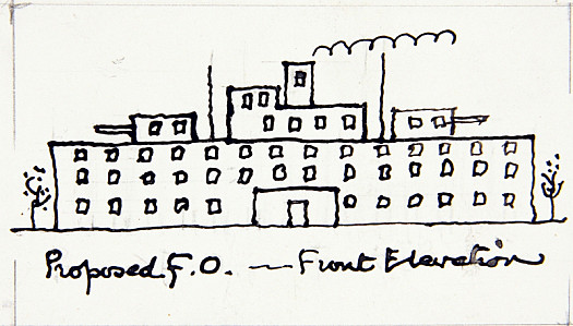 Proposed F. O. - Front Elevation