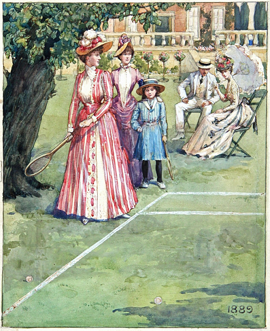 A Tennis Party, 1889