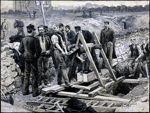 The Coal Strike: Miners Getting Surface Coal In Fields Near Sheffield