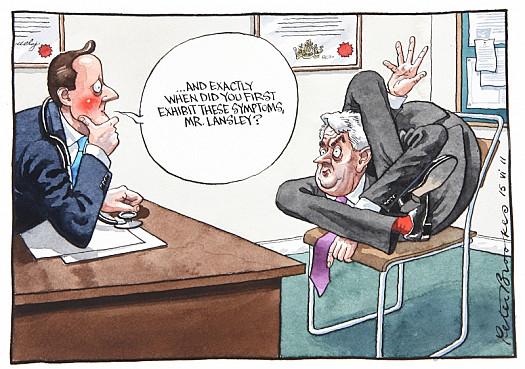 ... and Exactly When Did You First Exhibit These Symptoms, Mr Lansley?
