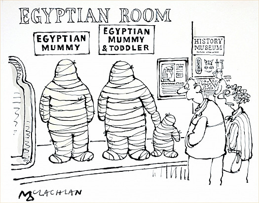 Egyptian Mummy and Toddler
