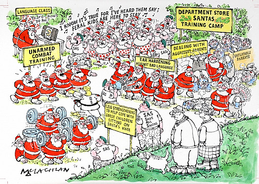 Department Store Santas Training Camp