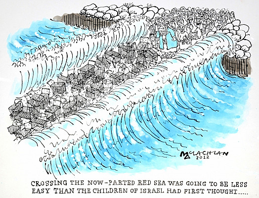 Crossing the Now-Parted Red Sea Was Going to Be Less Easy than the Children of Israel Had First Thought...