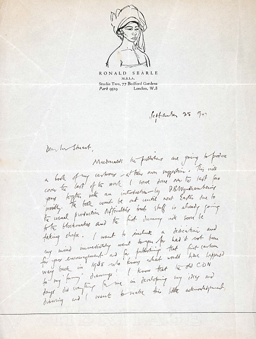 Letter to Morley Stuart Esq
