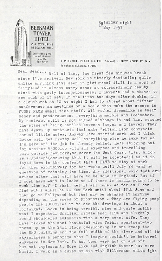 Typed Letter to Jean Ellsmoor