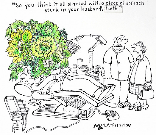 So You Think It All Started with a Piece of Spinach Stuck In Your Husband's Teeth?