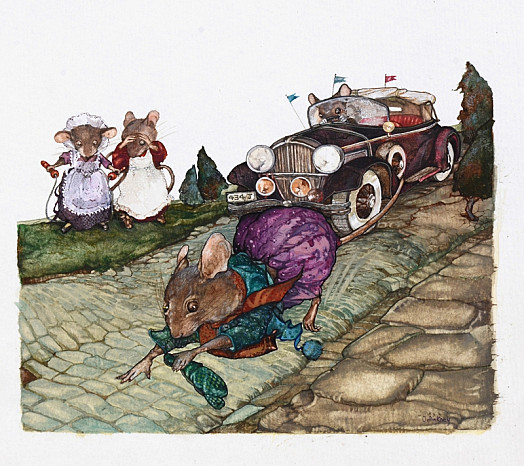 Then a Car Shot Round the Corner.