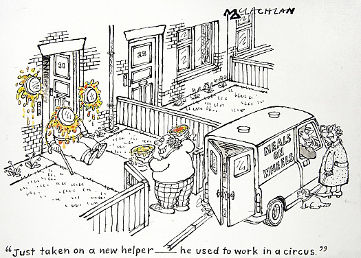 Just Taken On a New Helper – He Used to Work In a Circus