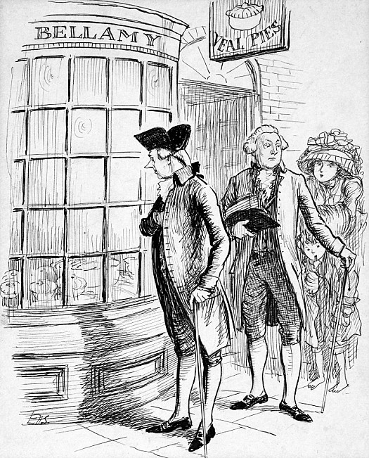 William Pitt the Younger Looks In On Bellamy's Veal Pies