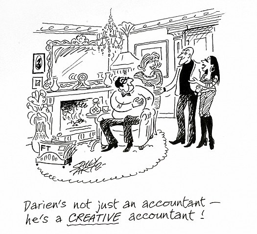 Darien's Not just an Accountant - He's a Creative Accountant!