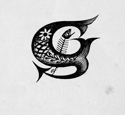 Initial Letter G: a Fishy One