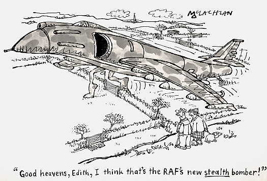 'Good Heavens, Edith, I Think That's the Raf's New Stealth Bomber!'