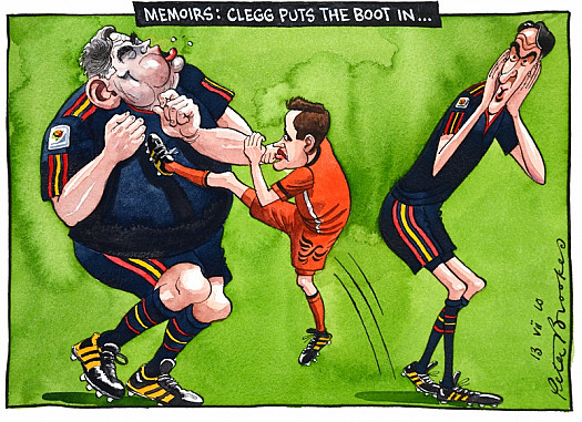 Memoirs: Clegg Puts the Boot In…