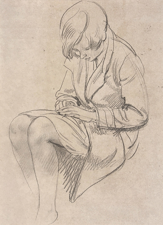 Seated Girl In a Coat