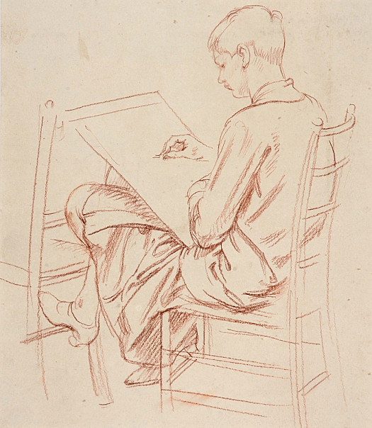 Young Woman Sketching