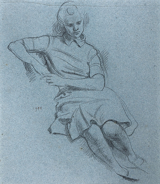 Seated Girl with Raised Arm