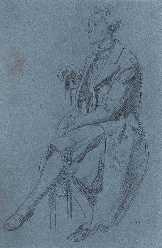 Seated Woman In a Coat