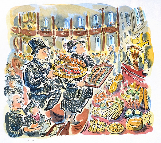 Pearly King and Queen At a Harvest Festival