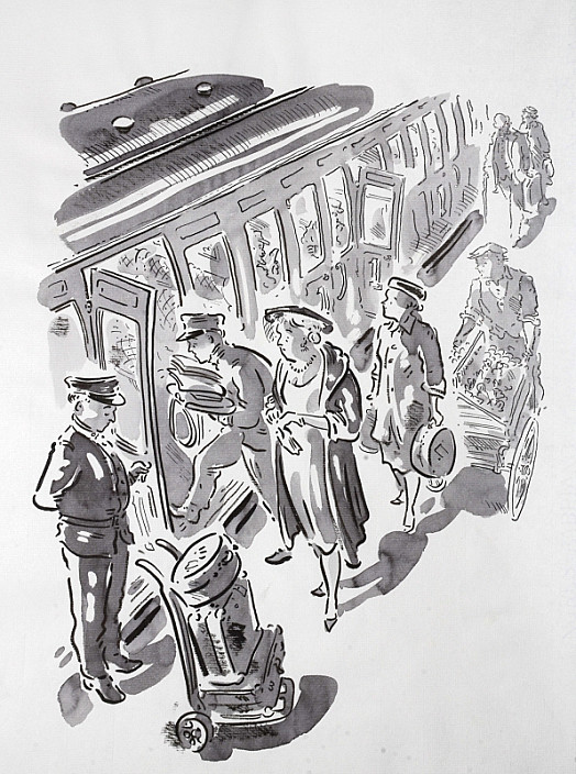 Composedly She Allowed One Porter to Open the Door of an Empty Compartment, the Other to Place Therein Her Bag, Papers, Novels, and Magazines
