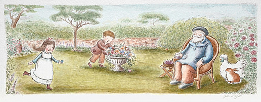 The Next Morning, the Old Man's Grandchildren Came to Visit For Easter. He Told Them to Search Outside In the Garden For Some Small but Perfect Treasures They Could Eat