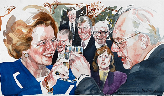 Margaret and Denis Thatcher Celebrate