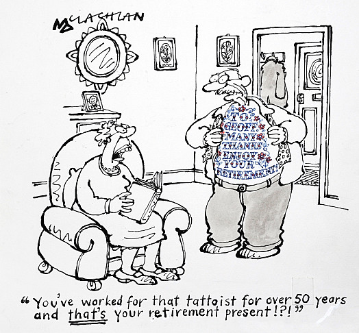 'You've Worked For That Tattooist For over 50 Years and That's Your Retirement Present!?!'