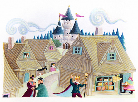 A Modest Castle Deep In an Ancient Forest and the Simple Wooden Cottages Huddled Higgledy Piggledy Around the Marketplace