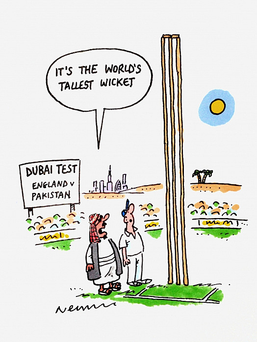 It's the world's tallest wicket
