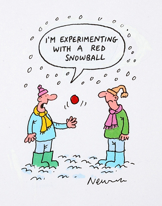 I'm experimenting with a red snowball