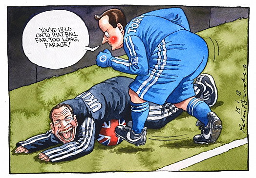 You've Held On to That Ball Far Too Long, Farage!