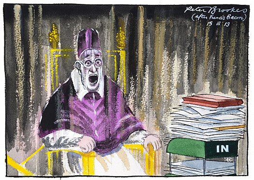 Study After Velaquez's Portrait of Pope Francis's Inbox