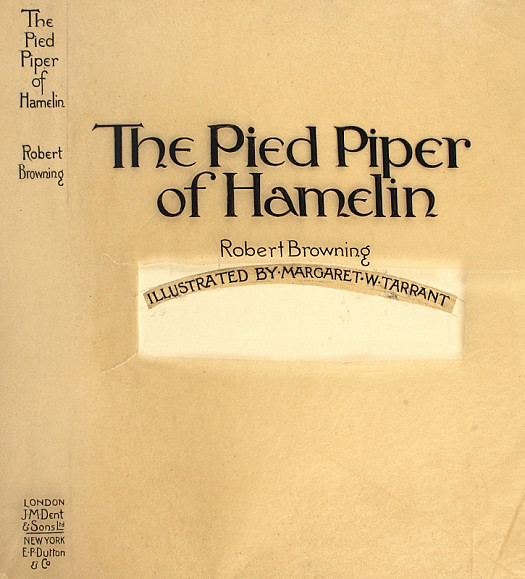 The Artwork to the Frontispiece the Pied Piper of Hamelin