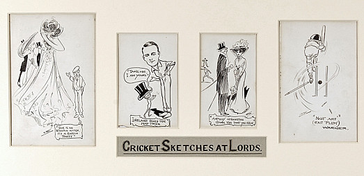 Cricket Sketches At Lords