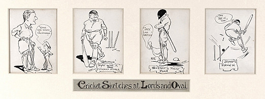 Cricket Sketches At Lords and Oval
