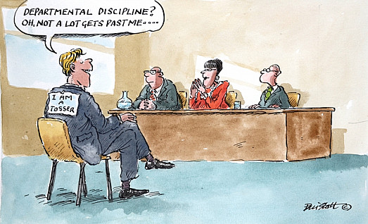 Departmental Discipline? Oh, Not a Lot Gets Past Me...