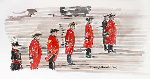Chelsea Pensioners, Guard of Honour, St Paul's Steps