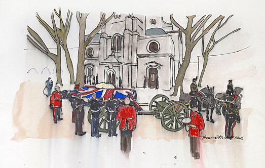 Gun Carriage, St Clement Danes, Westminster, London