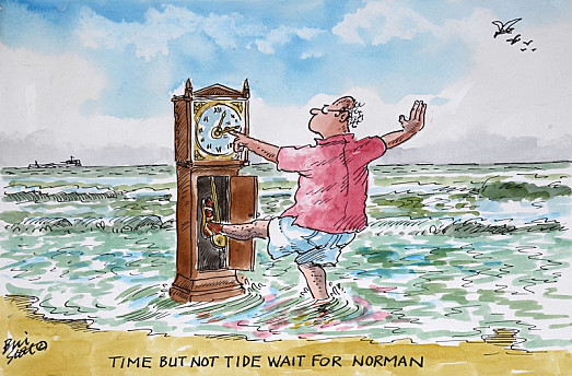 Time but not tide wait for Norman