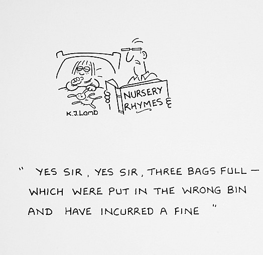 Yes Sir, Yes Sir, Three Bags Full - Which Were Put In the Wrong Bin and Have Incurred a Fine