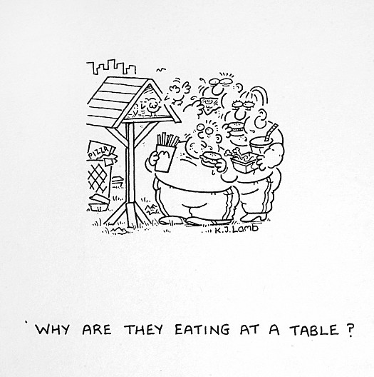 Why Are They Eating At a Table?