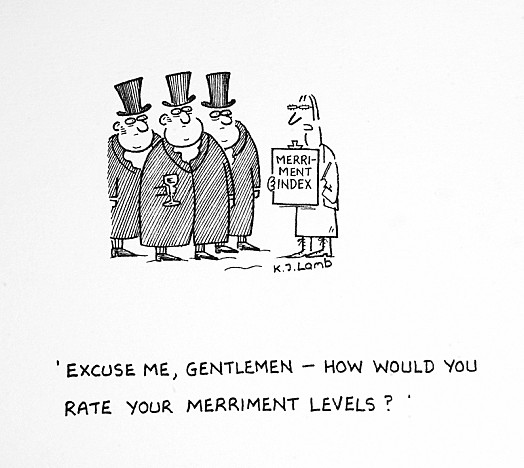 Excuse Me, Gentlemen - How Would You Rate Your Merriment Levels?