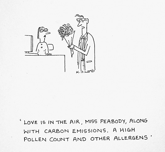 Love Is In the Air, Miss Peabody, Along with Carbon Emissions, a High Pollen Count and Other Allergens