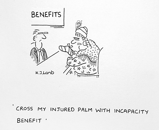 Cross My Injured Palm with Incapacity Benefit