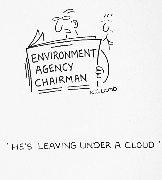 He's Leaving under a Cloud
