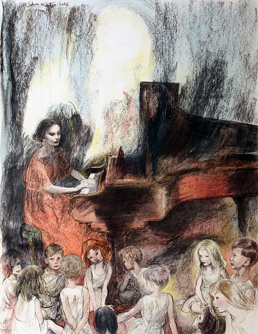 Ann Driver At the Piano