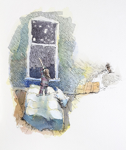 But When Rose Was Alone Behind the Door of Her Room, She Looked Out At Things Small and Far Away and She Wished ...