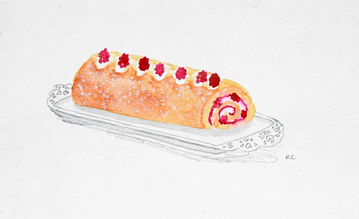 Ripe Raspberry Roll