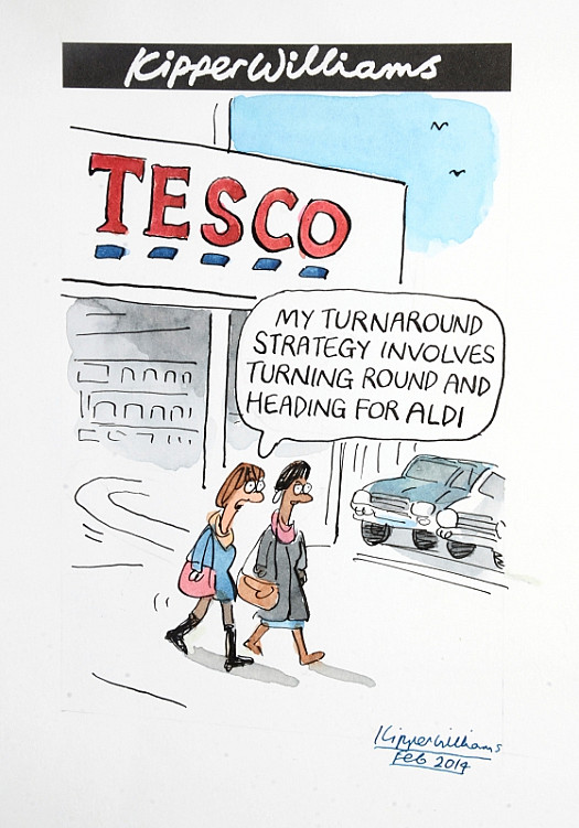 My Turnaround Strategy Involves Turning Round and Heading For Aldi
