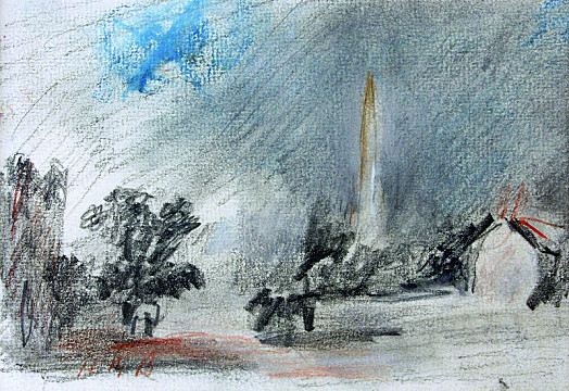 Salisbury Cathedral from the Closea Souvenir of John Constable