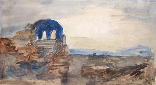 Temple of Minerva, Rome. Souvenir of Turner